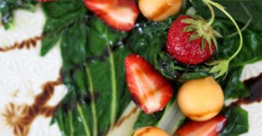 Salade aux feuilles de blettes