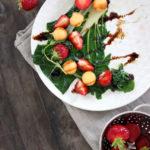 Salade blettes melon et fraises