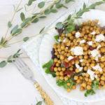 Salade de pois chiches, tomates séchées et féta