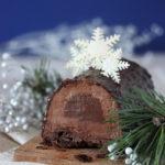 Bûche avec glaçage rocher au chocolat