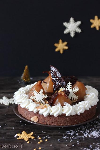 Tarte à la poire et au chocolat