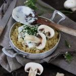 Pâtes aux champignons recette rapide