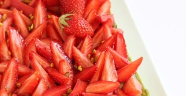Tarte fraises et pistache