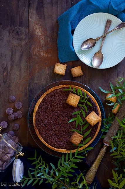Tarte avec appareil façon moelleux au chocolat