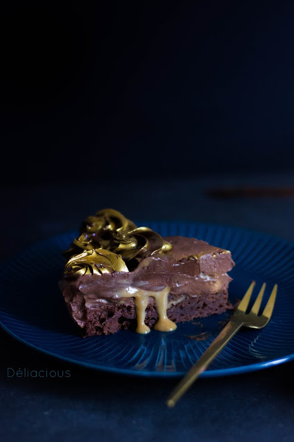 recette d'entremets chocolat, caramel et noix de pécan vegan