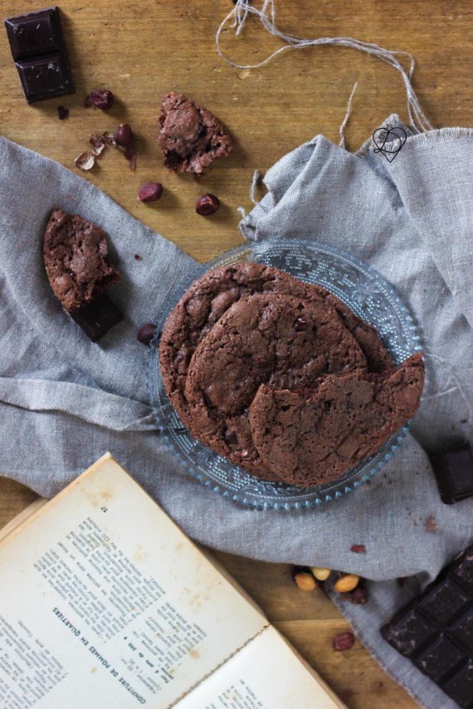 Cookies aux chocolat végétaliens aux pépites de chocolat
