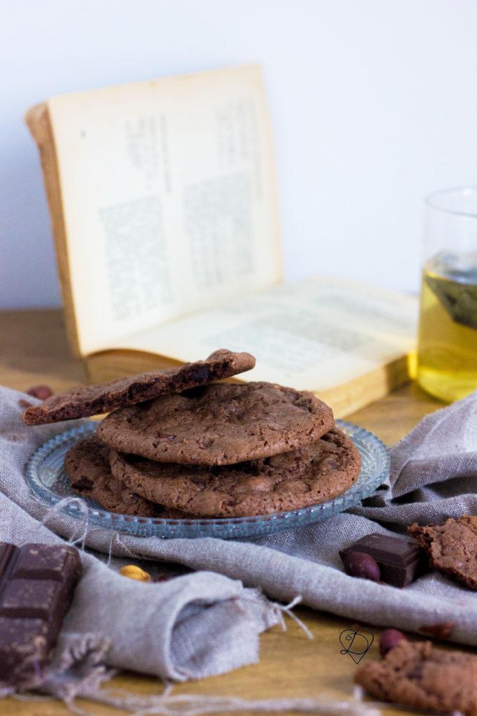 Cookies aux chocolat et pâte à tartiner