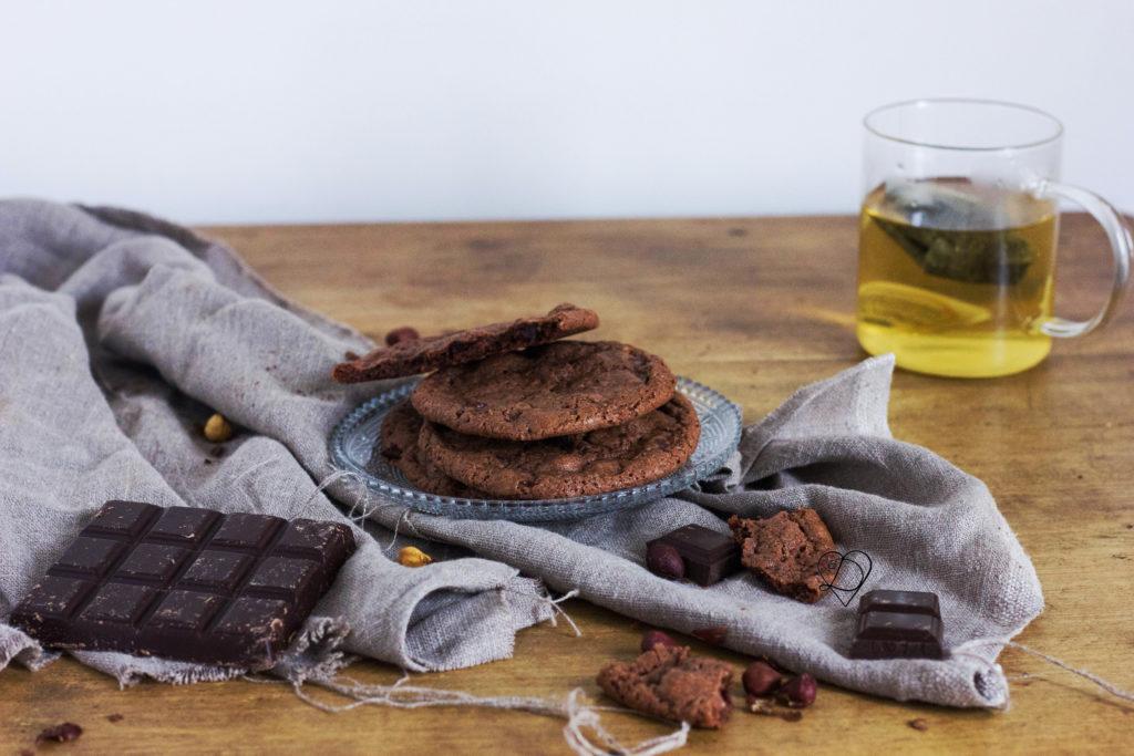 Recette de cookies au cacao et pépites de chocolat vegan