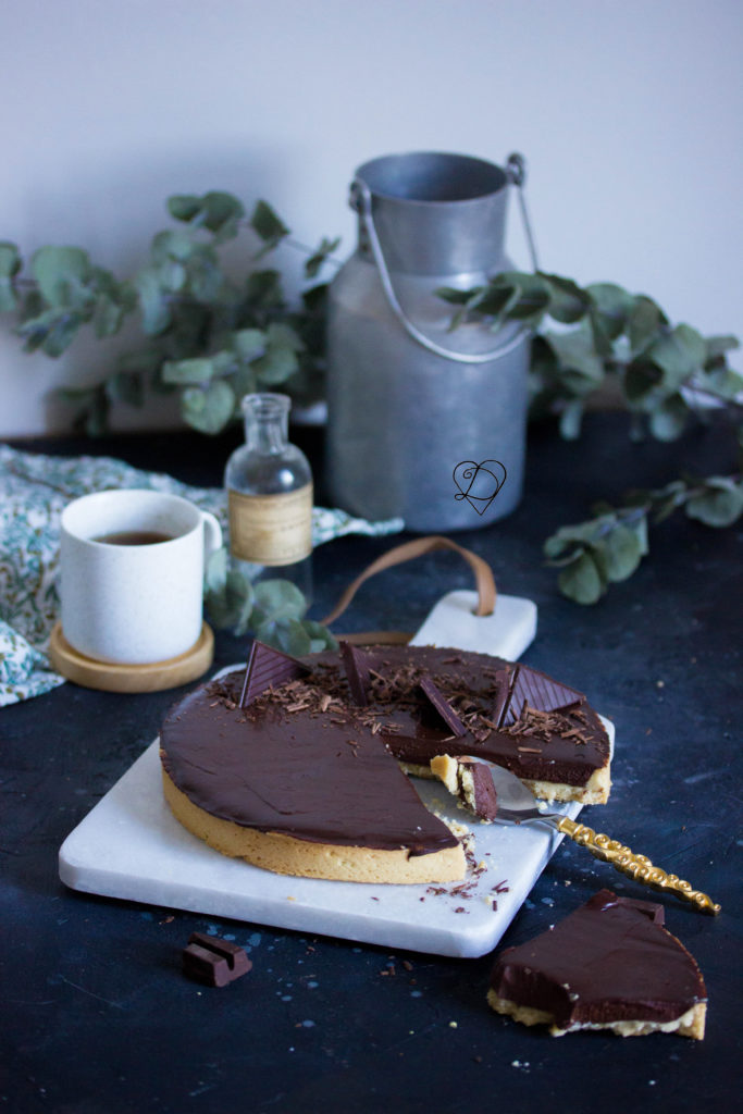 Tarte au chocolat ganache fondante