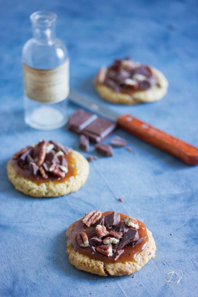 Cookies caramel et chocolat