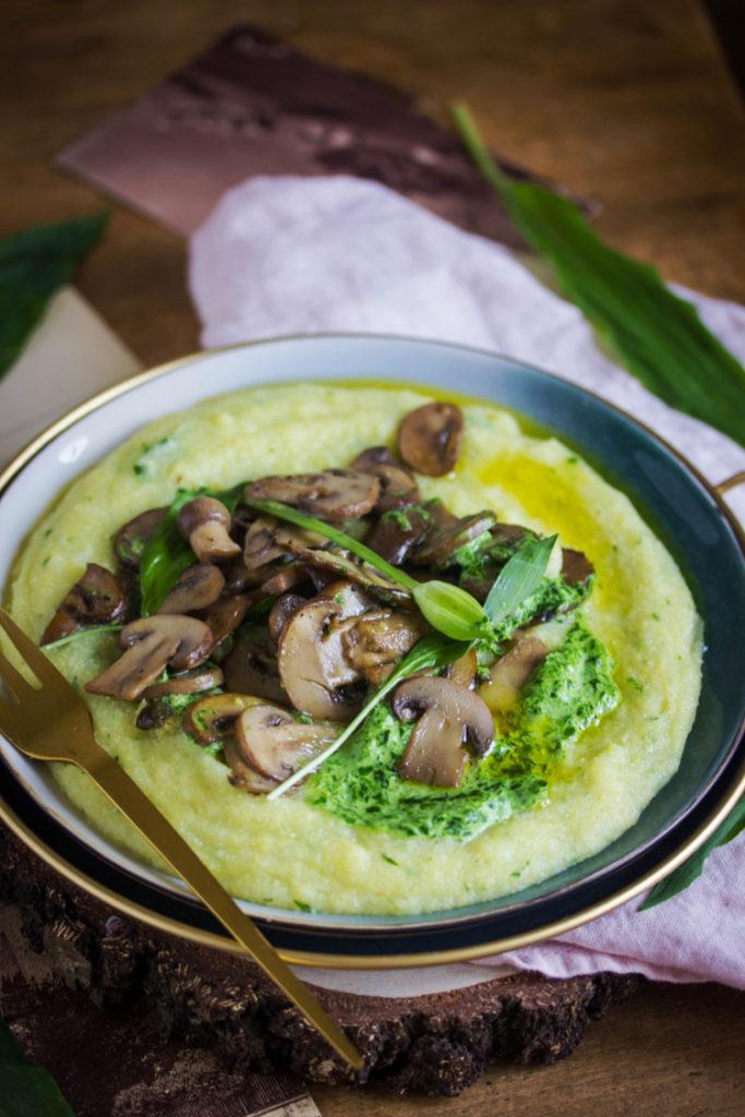 Recette de polenta crémeuse vegan