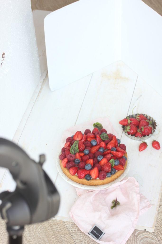 Réflecteur de lumière photographie culinaire