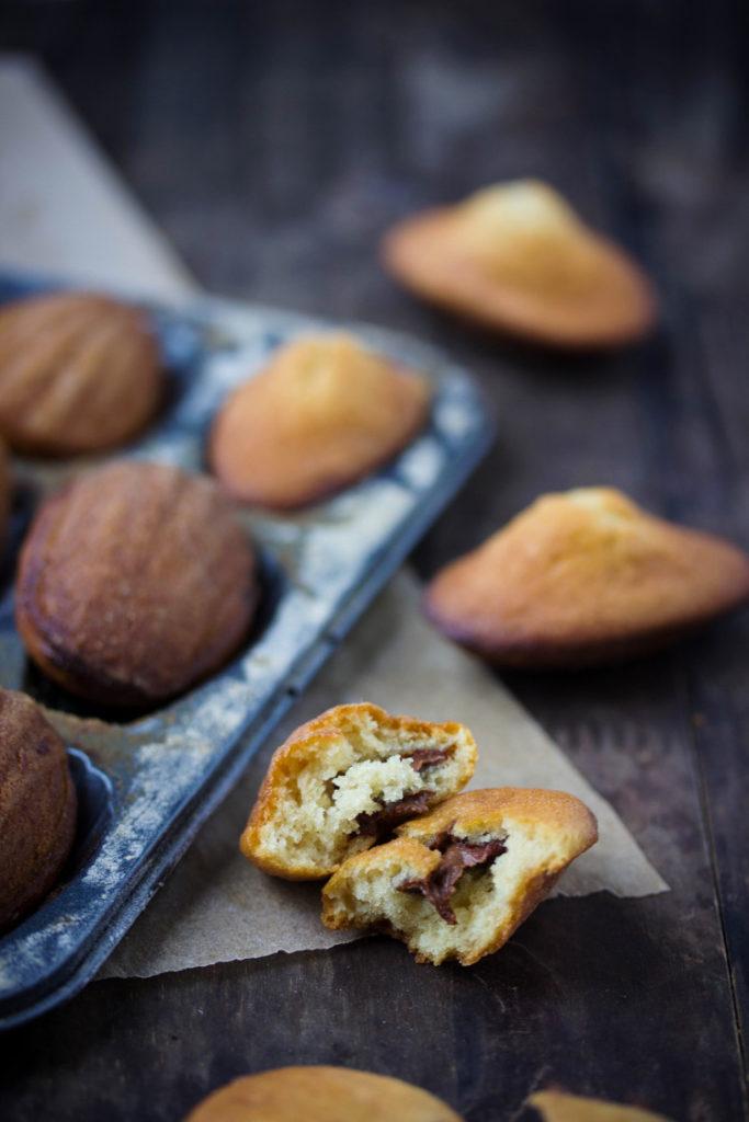 Madeleines vegan coeur chocolat