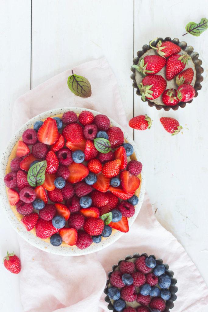 Sablé breton aux fraises vegan