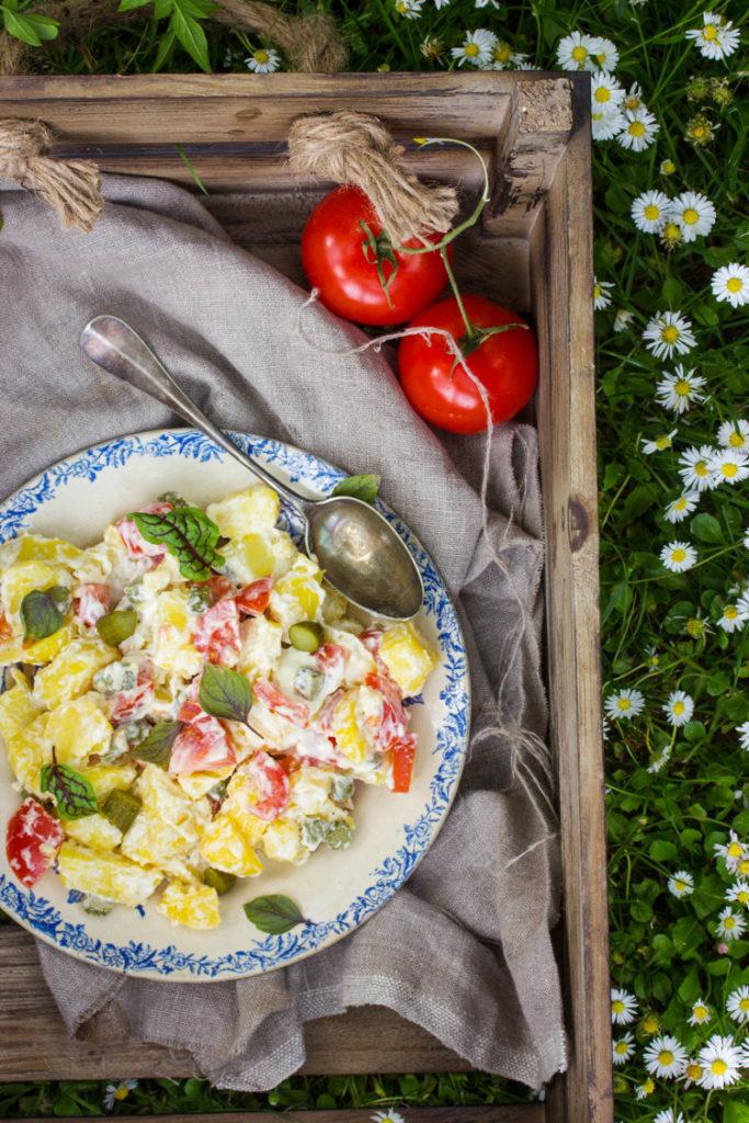 Recette de salade piémontaise véganaise