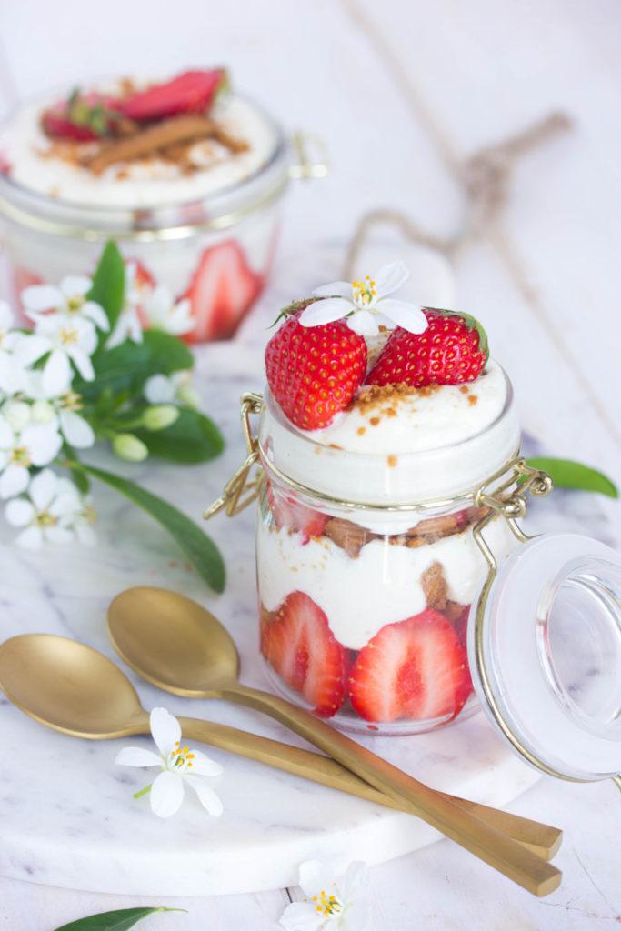 Tiramisu aux fraises et au spéculoos