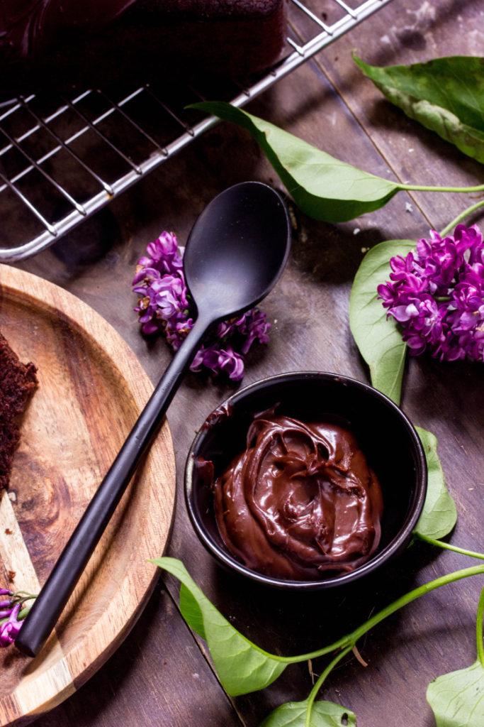 Ganache au chocolat sans lactose