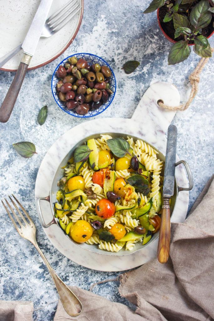 Recette de pâtes aux légumes d'été