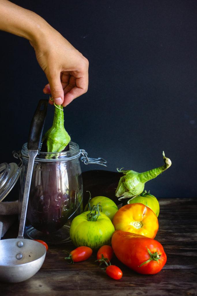 Légumes frais de la cueillette