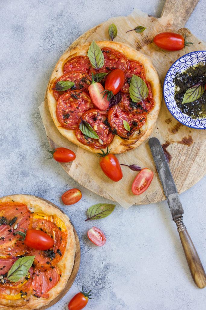 tarte fine tomates et basilic
