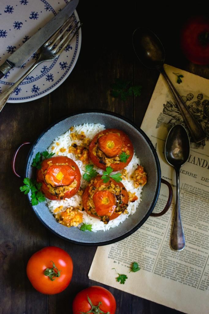 Tomates farcies aux protéines de soja