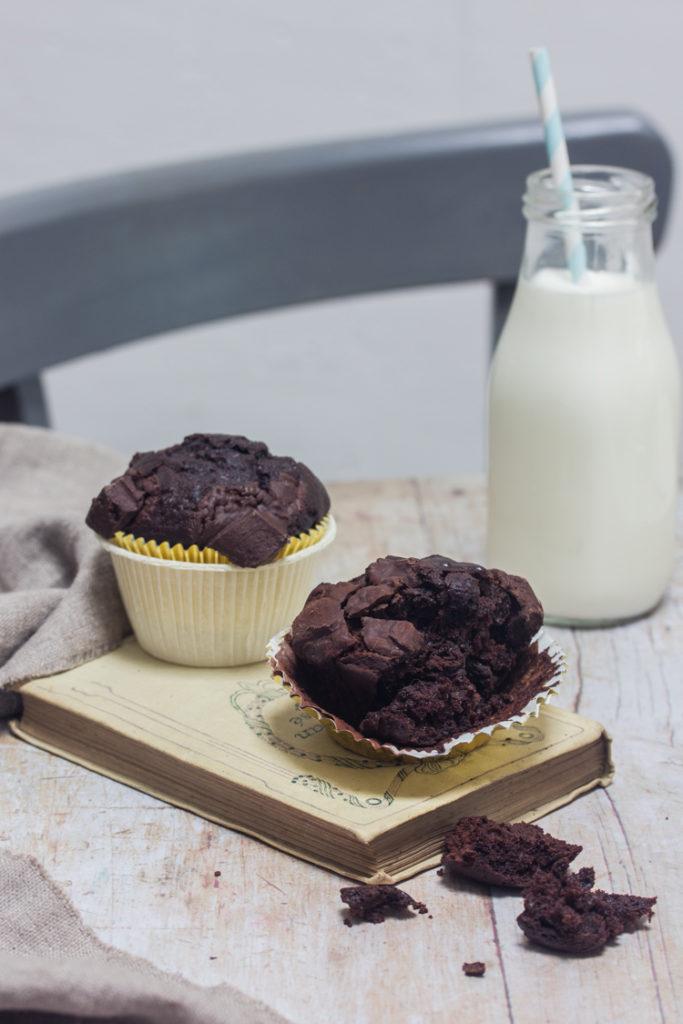 Muffins au chocolat végétalien