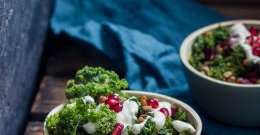 Salade kale et lentilles
