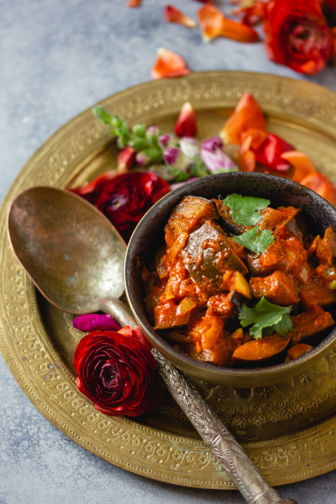Recette de curry d'aubergine