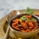 Curry d'aubergine vegan