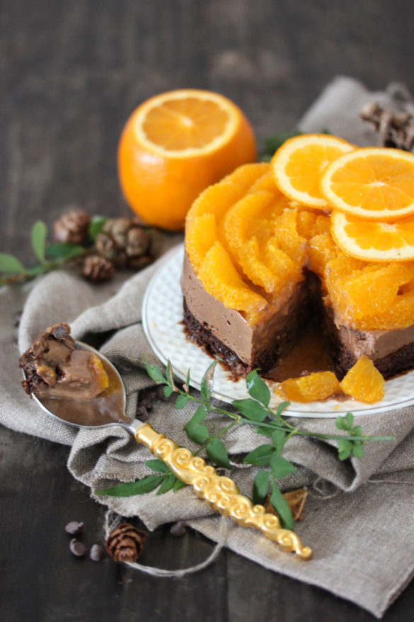 Entremets orange chocolat nakd