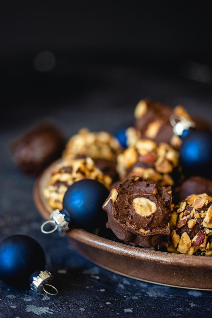 Rocher au chocolat pour noël