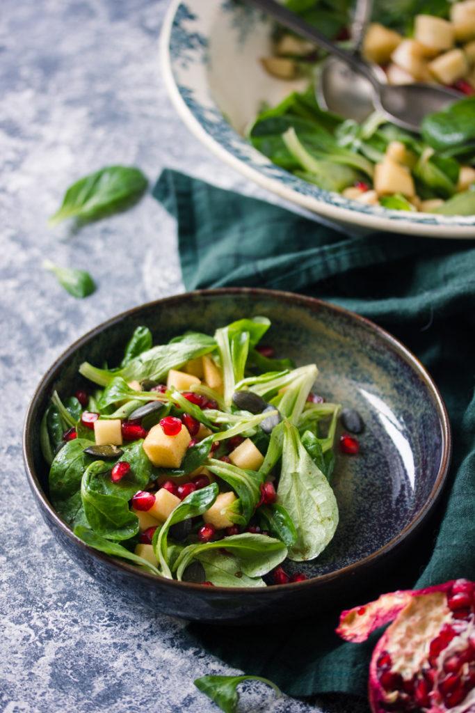 Salade de mâche aux pommes