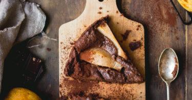 Recette de fondant au chocolat et aux poires vegan
