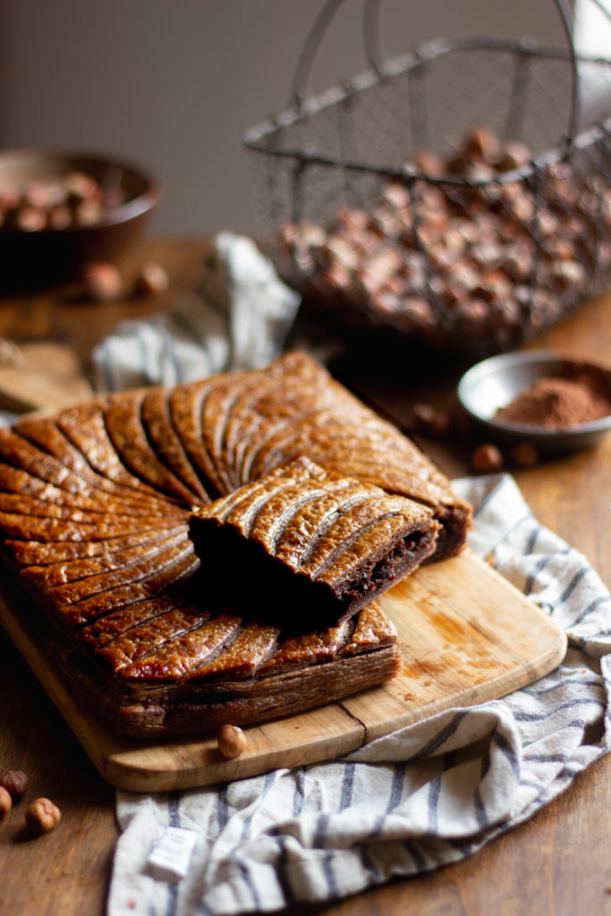 Galette des rois maison vegan au cacao