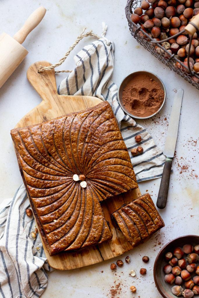 Galette végétalienne au cacao