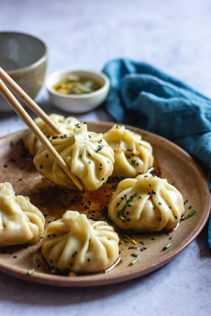 Recette de dumplings vegan