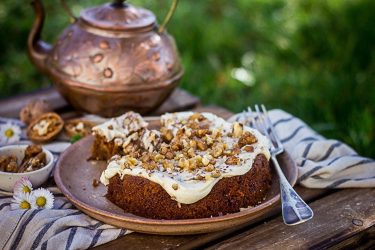 Véritable carrot cake vegan