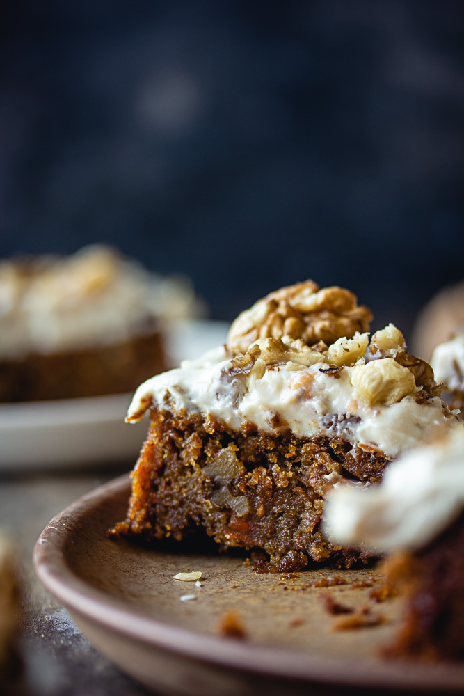 Carrot cake et glaçage cream cheese