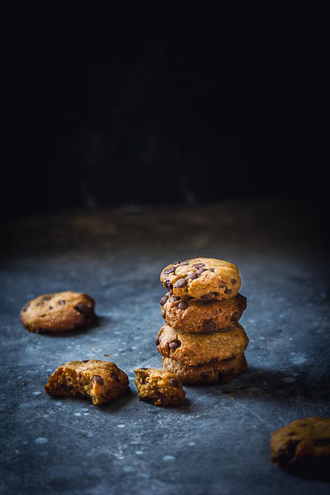 Cookies aux pépites de chocolat et à la cacahuète