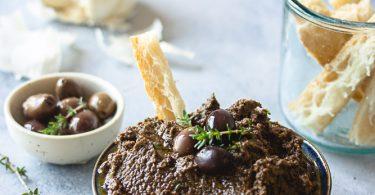 Tapenade aux olives noires maison