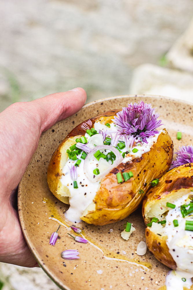 Pommes de terre dorées au four à la crème
