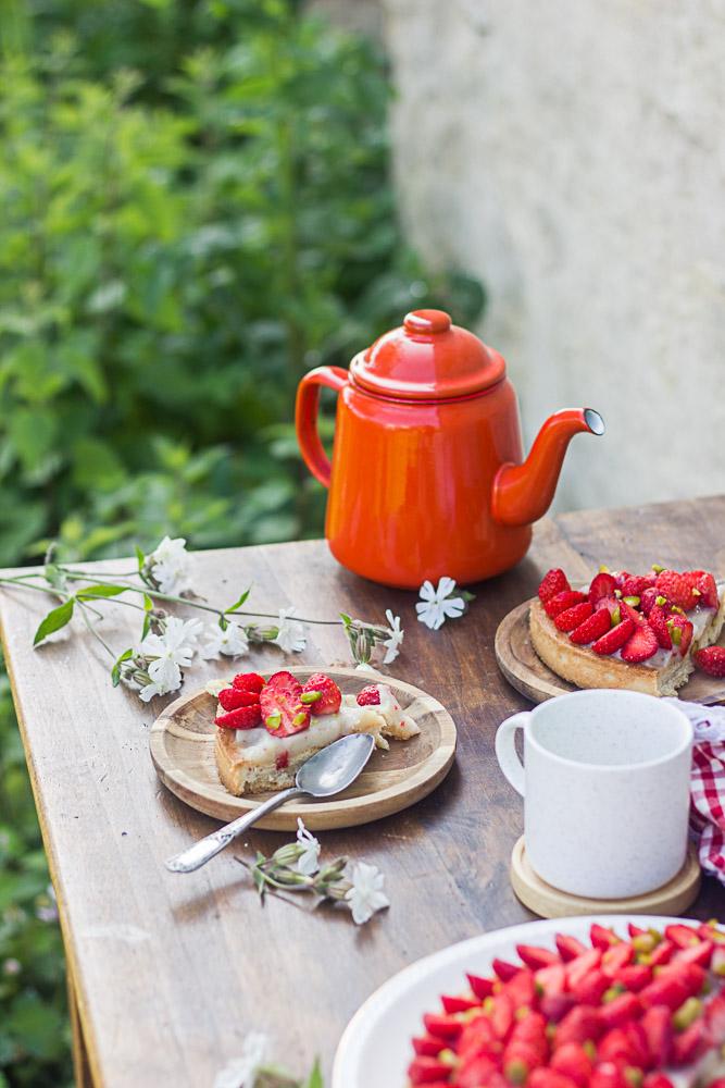 Tarte aux fraises à la vanille
