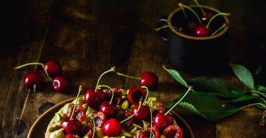 Tarte cerise et pistache