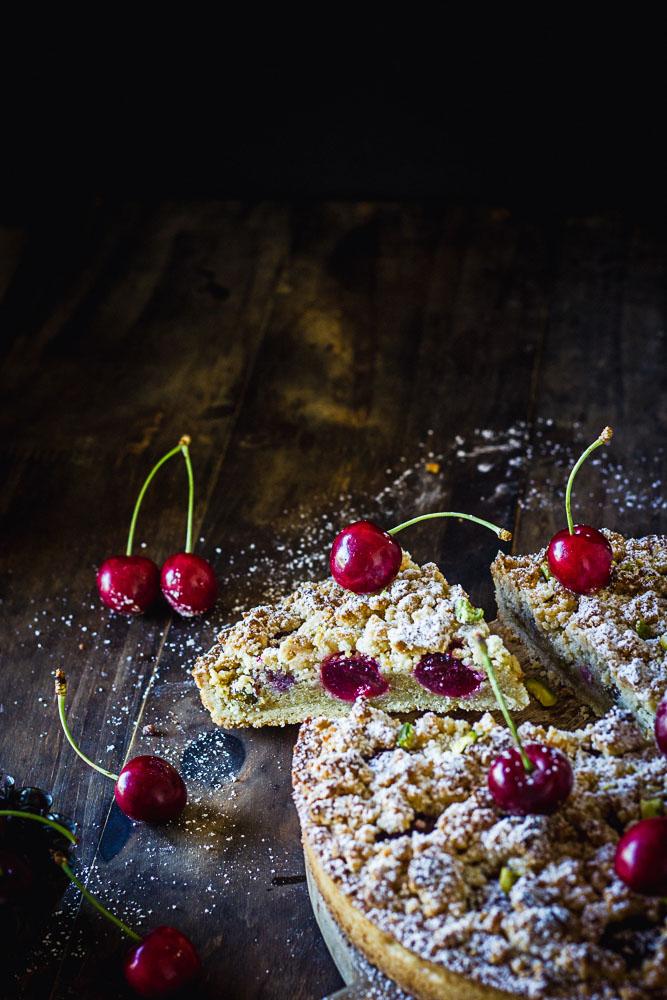 Tarte amandine aux cerises sans lactose