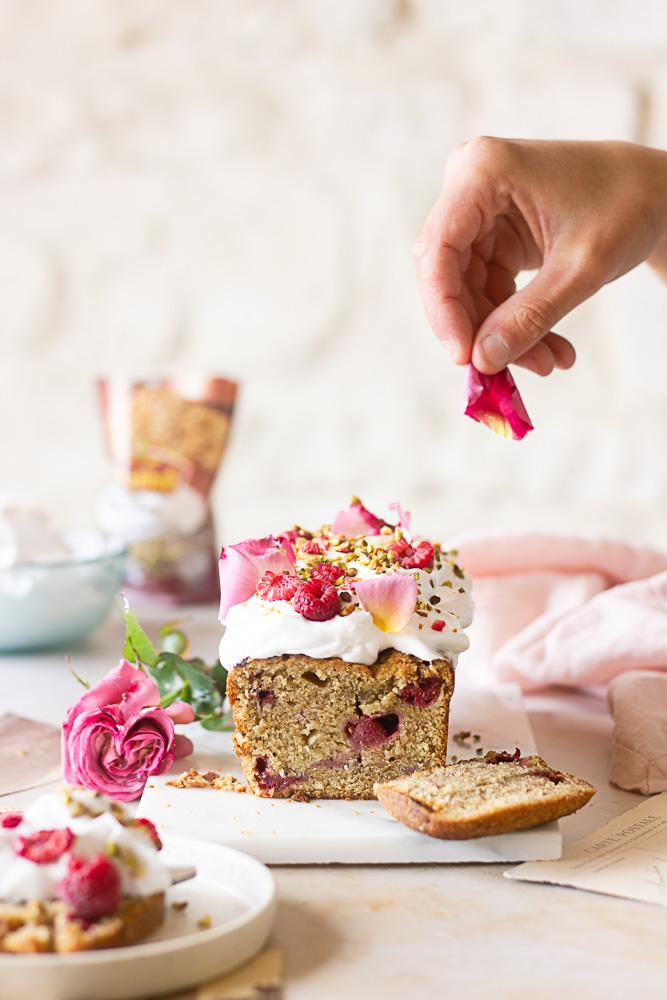Cake aux framboises vegan
