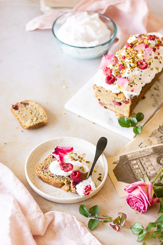 Cake vegan aux pistaches