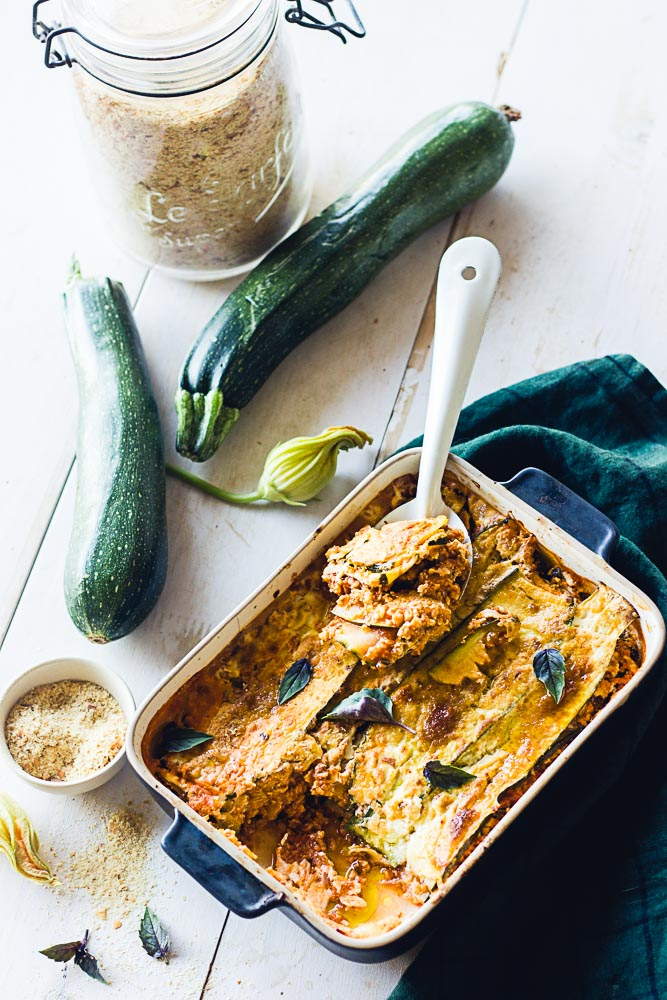 Lasagnes de courgettes végétariennes