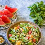 Salade de melon et de pastèque