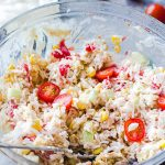 Salade de riz mayonnaise
