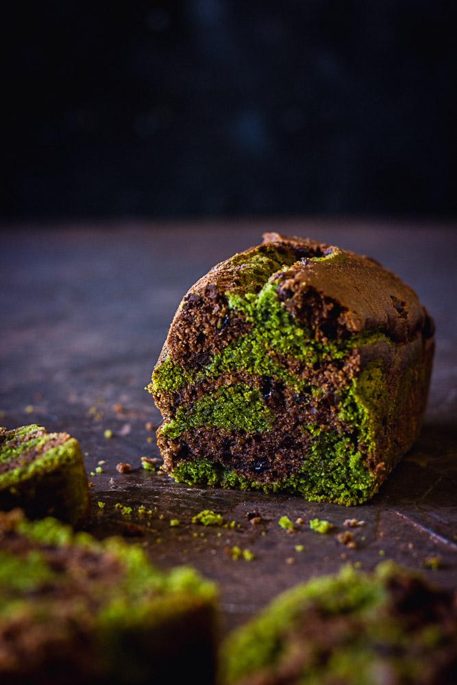 Cake au thé matcha vegan